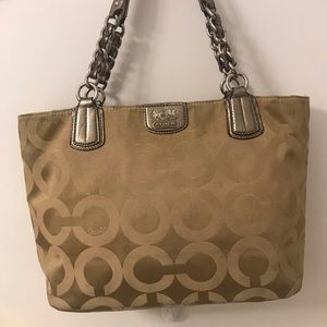 Gold coach small tote